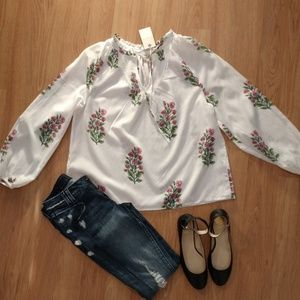 NWT!!!!Lucky Brand floral blouse